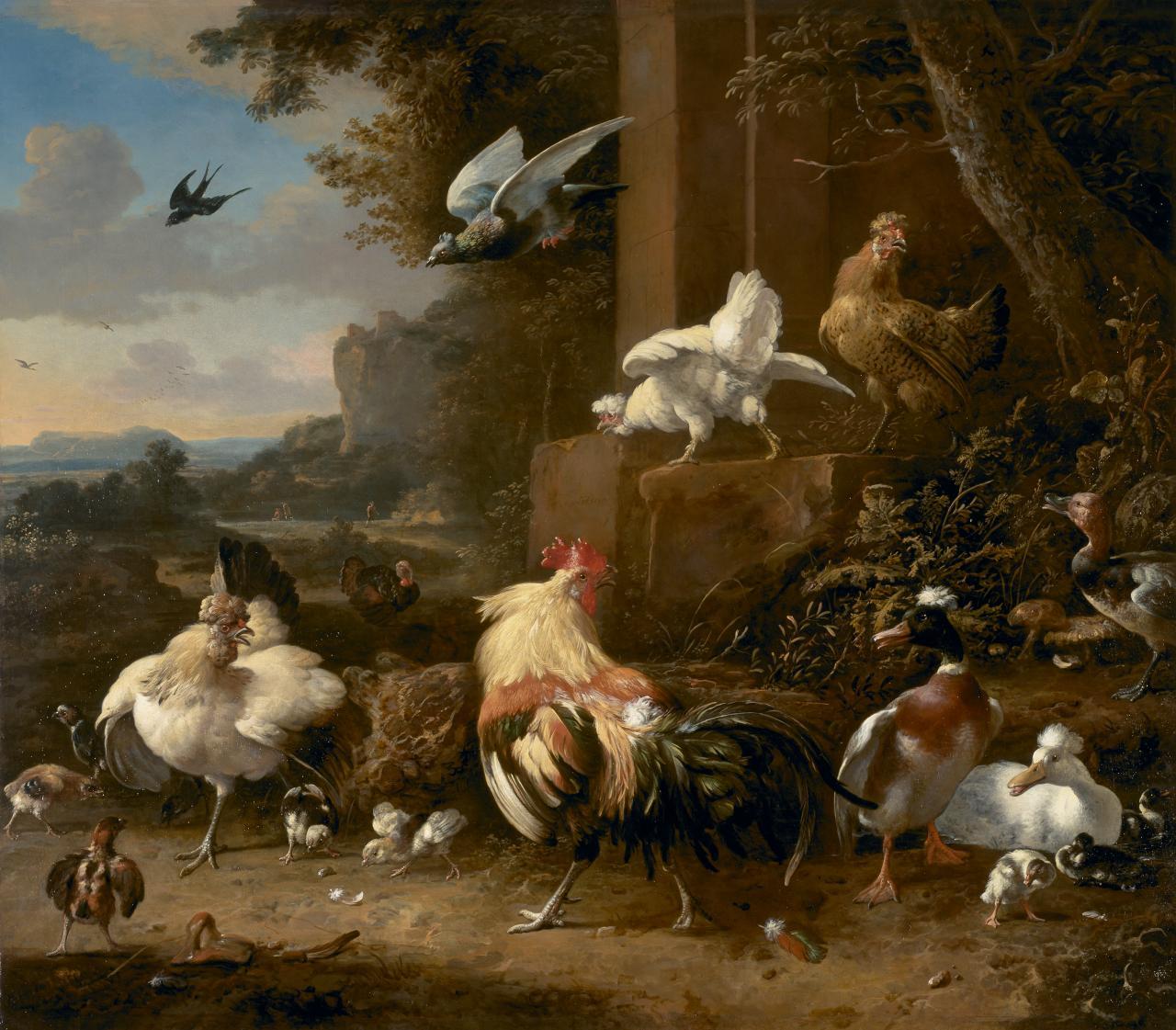 Melchior de Hondecoeter: The Poultry Yard