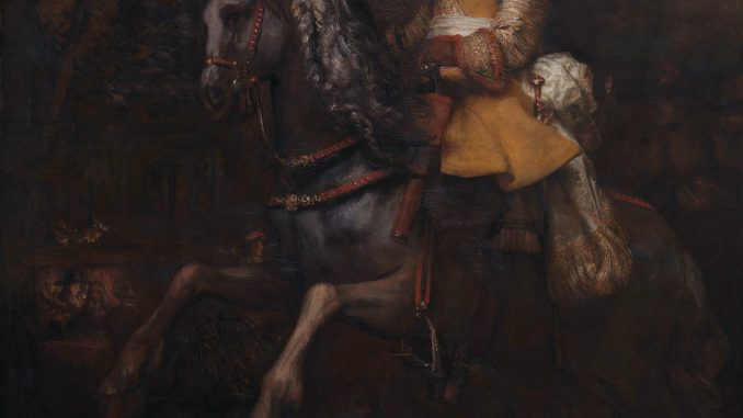 Rembrandt: Portrait of Frederick Rihel on Horseback