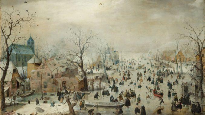 Hendrick Avercamp: Winter Landscape with Skaters