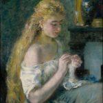 Pierre-Auguste Renoir: A Girl Crocheting