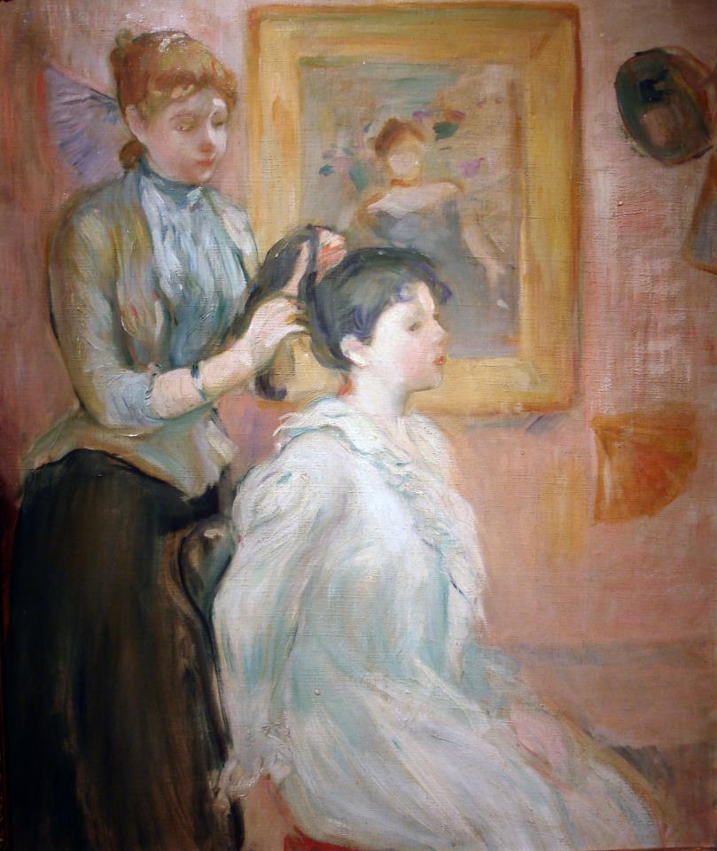 Berthe Morisot: La Coiffure