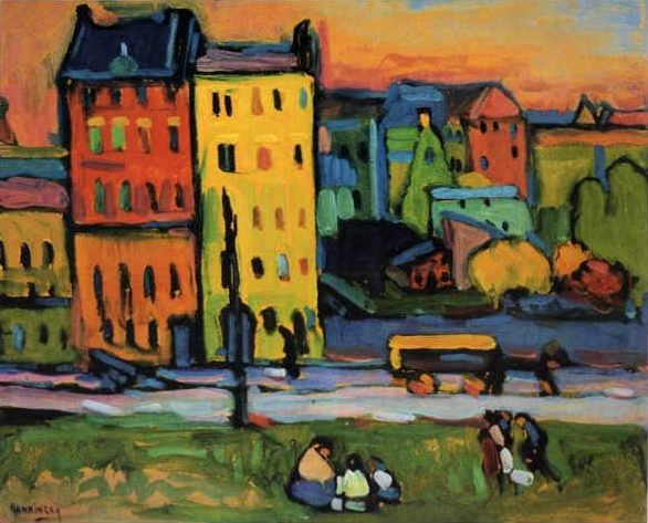 Wassily Kandinsky: Houses in Munich