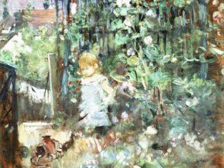 Berthe Morisot: Child Among the Hollyhocks