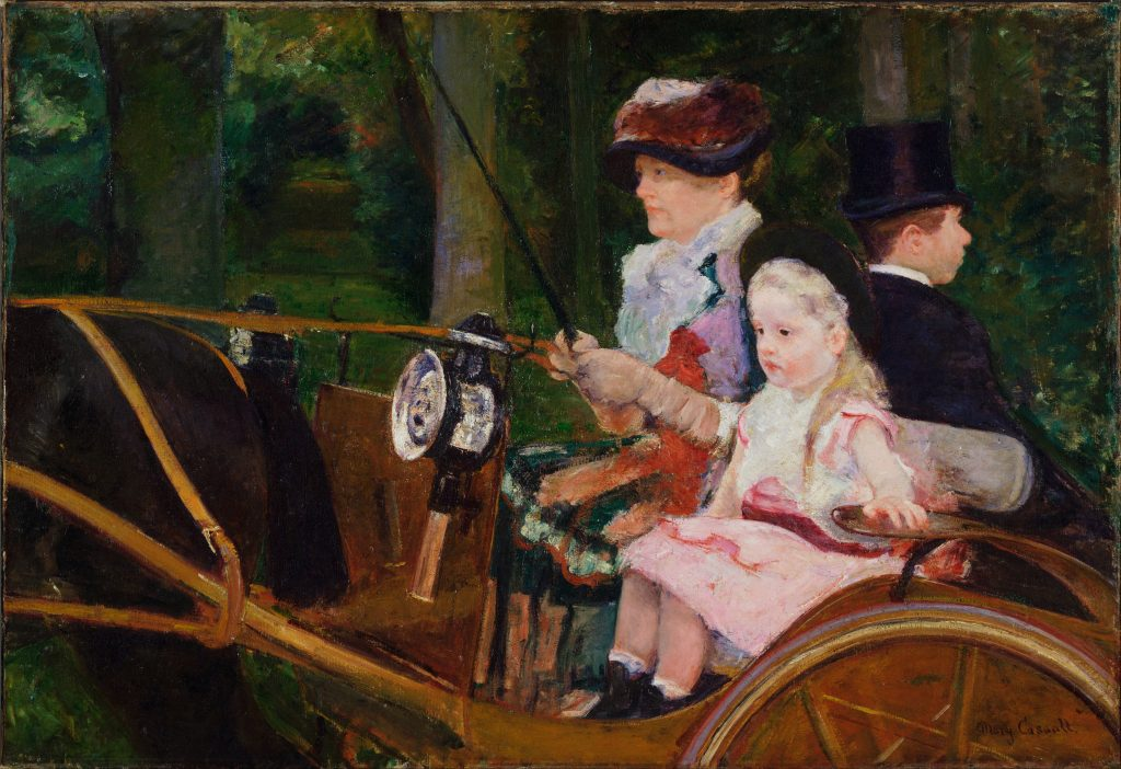 Mary Cassatt: A Woman and a Girl Driving