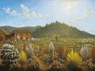 John Glover: A View of the Artist's House and Garden, in Mills Plains, Van Diemen's Land, 1838
