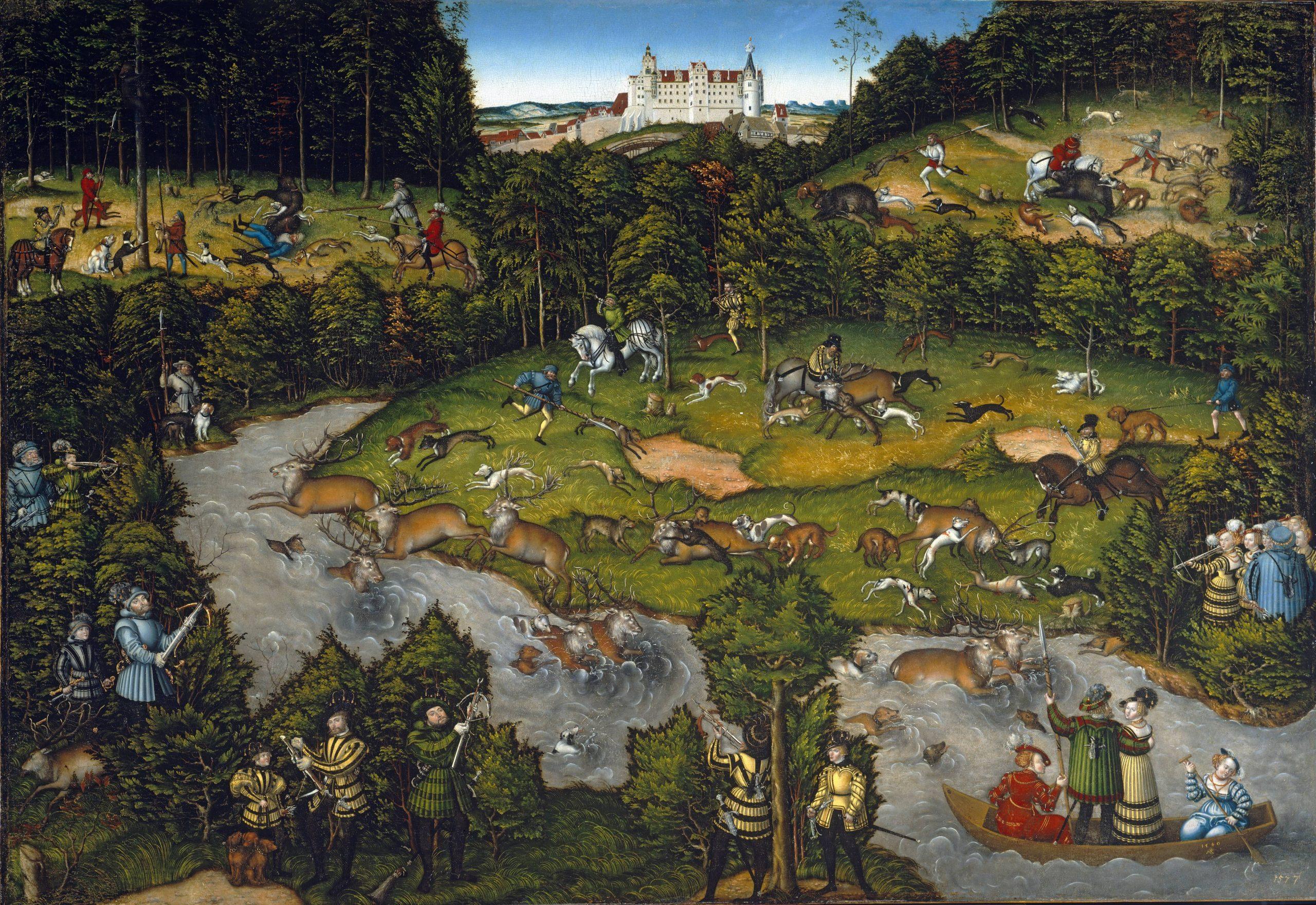 Lucas Cranach the Elder: Hunting Near Hartenfels Castle