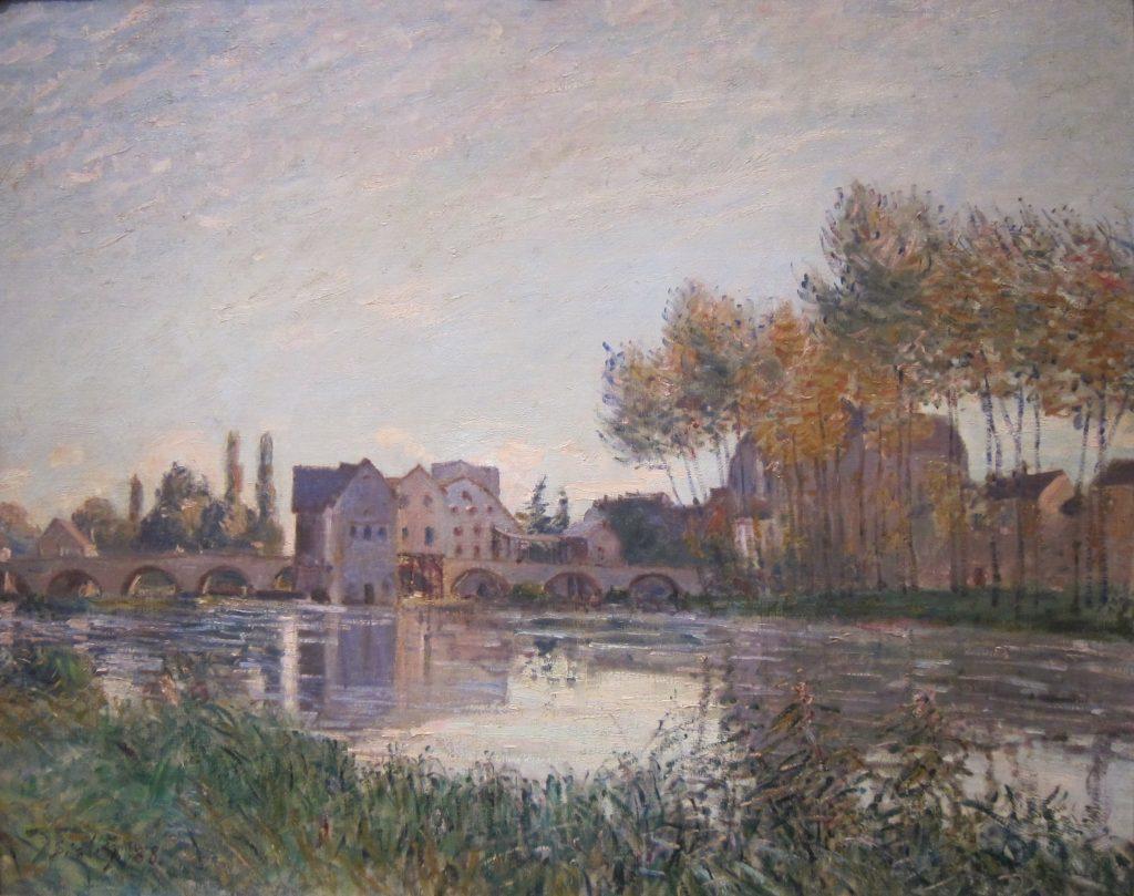Alfred Sisley: Sunset at Moret