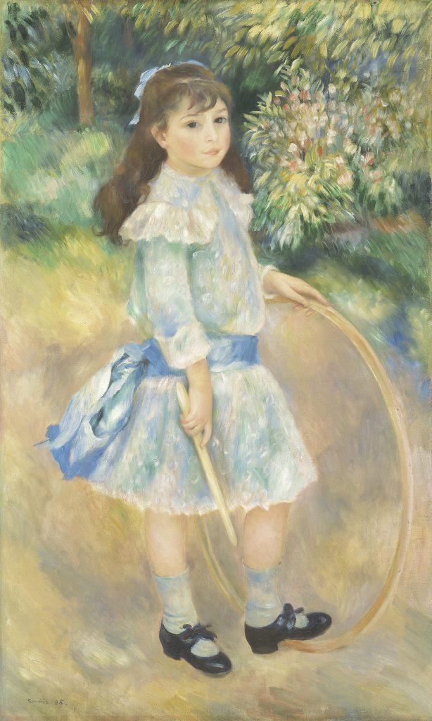 Pierre-Auguste Renoir: Girl with a Hoop