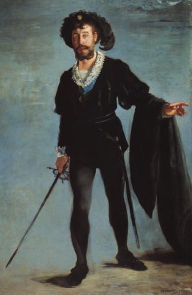 Édouard Manet: Faure as Hamlet