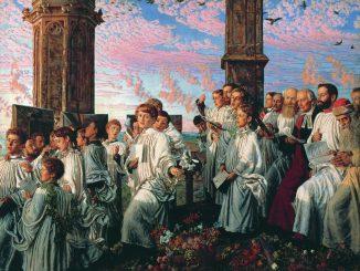 William Holman Hunt: May Morning on Magdalen Tower